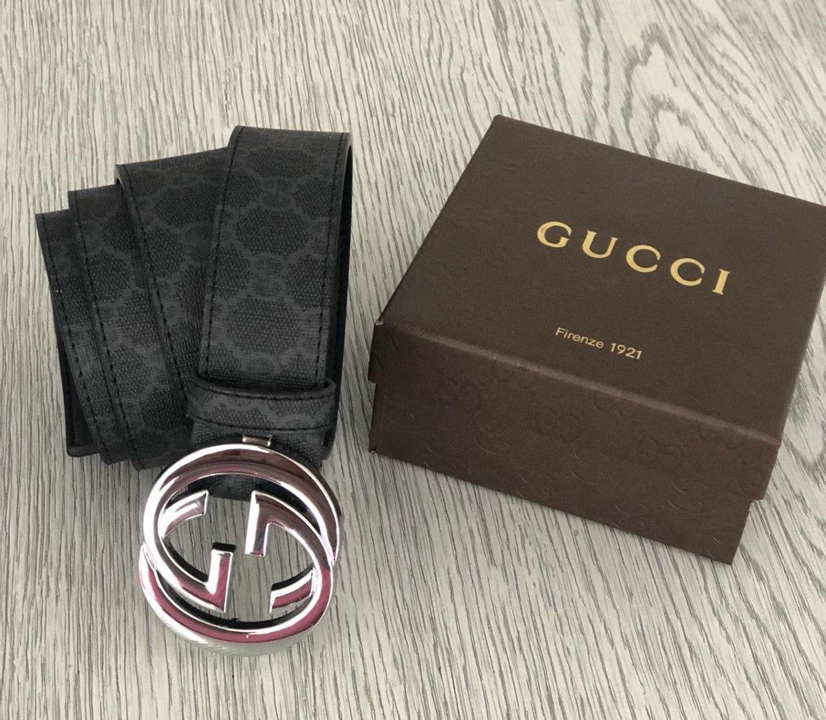 e6ed6d1c68e31 Correa Cinturones Gucci Hombre Negra Blanca Precio -   58.000 en ...