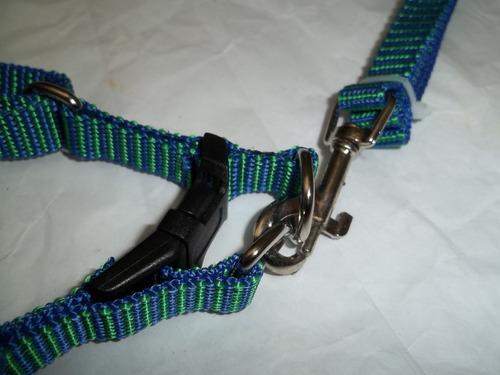 correa con pretal arnes nylon suave para mascotas pequeñas