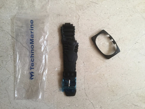 correa + cubierta technomarine negra 45 mm
