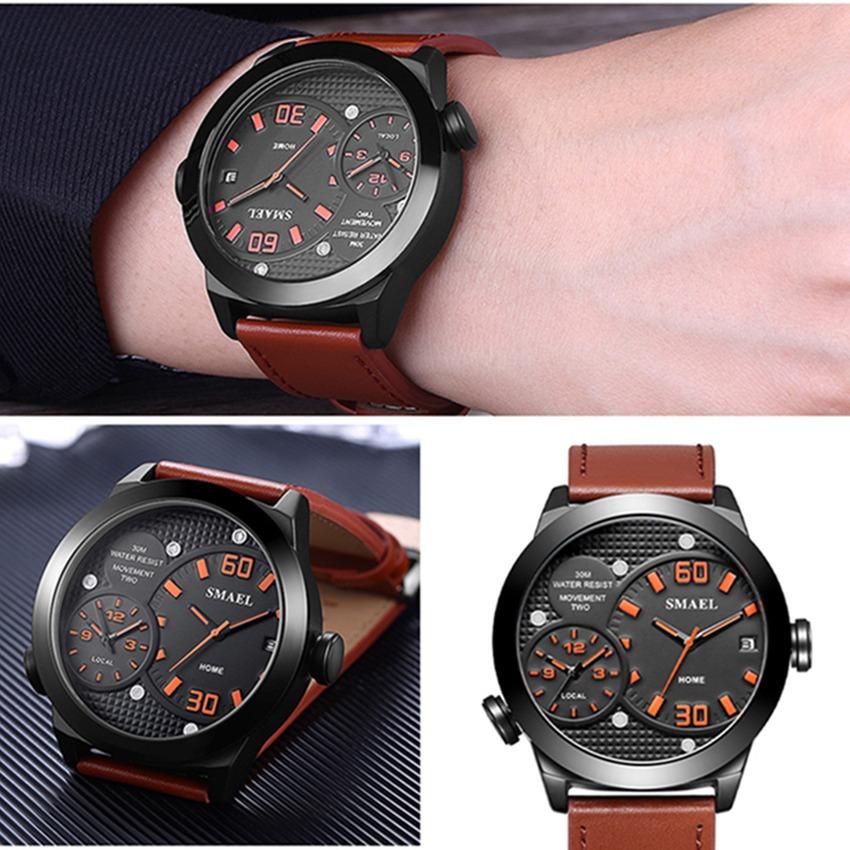 b8d802056807 correa cuero reloj moda smael cuarzo resistente al agua. Cargando zoom.