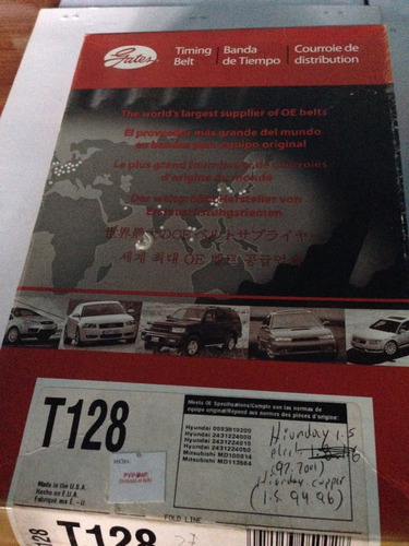 correa d tiempo hyundai excel 1.5l 92-01,hyundai svoupe t128
