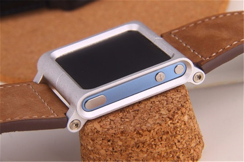 correa de cuero lunatik chicago collection reloj ipod nano 6