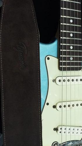 correa de cuero marron tijuana 540/8 para guitarra o bajo