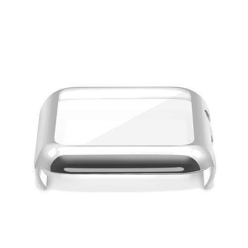 correa de eslabones para iwatch 42 mm y 38 mm + case + mica