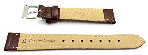 correa de reloj de newlife   honey brown shrunken grain band