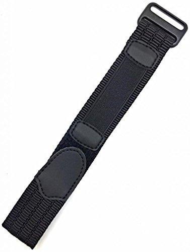 correa de reloj deportiva de nylon ajustable de 1820 mm negr