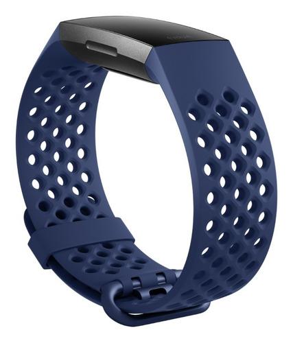 correa de reloj fitbit charge 4 y charge 3 azul talla l