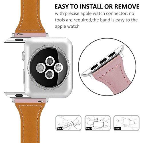 correa de reloj para apple watch serise 1 2 3, 38 mm, rosado