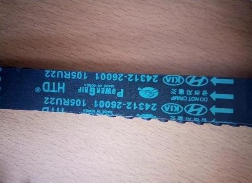 correa de tiempo para hyundai getz 1.6 105 dientes original
