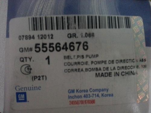 correa dirección hidraulica cruze 55564676 g m