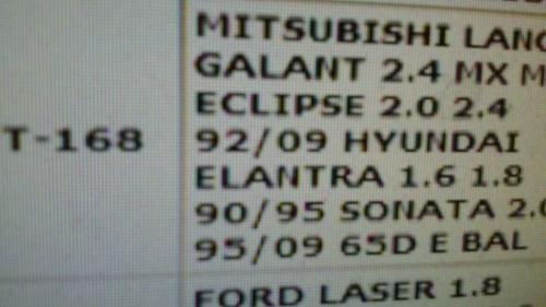 correa eje balanceador mitsubishi galant. 2.4 eclipce 2.0lts
