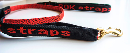 correa elastica perros rok straps mediana roja