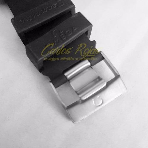 correa extensible caucho negro 22mm para omega seamaster