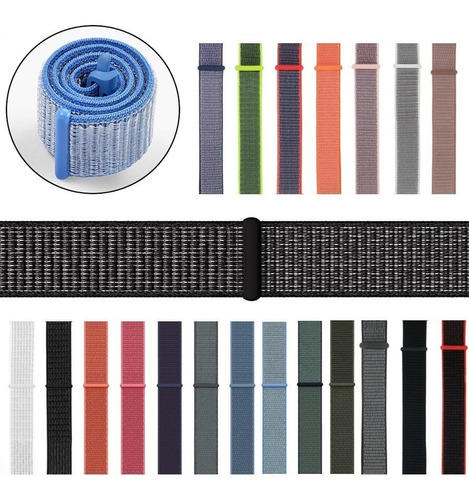 correa extensible nylon iwatch serie 1 2 3 4 38/40mm 42/44mm