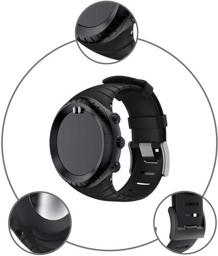 correa manilla reemplazo suunto core smartwatch en caucho