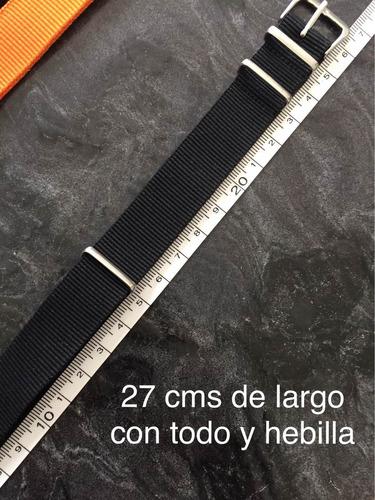 correa nato y raf 18, 20 y 22 mm envio gratis.varios colores