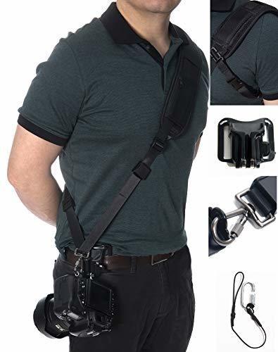 Cámara SLR 1//4 Tipo Tornillo Correa Hebilla de liberación rápida de placa de cuello D Hombro Cinturón