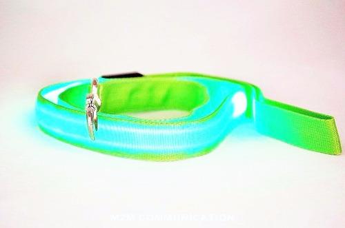 correa para collar perro mascota con luz led rf: mck7020