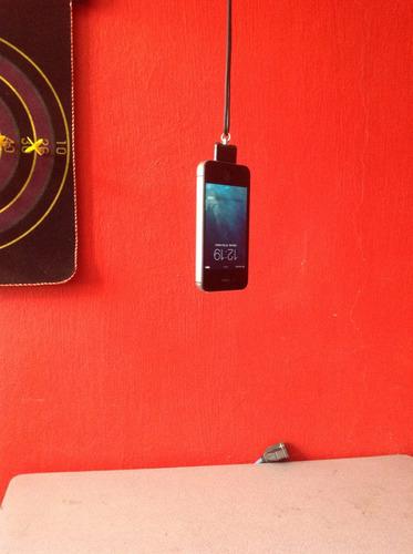 correa para iphone ipod silicon negro mobo