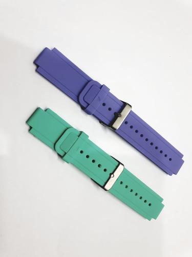 correa para reloj garmin vivoactive verde menta y lila