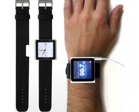 correa pulsera para ipod nano 6g solo color rosado semicuero