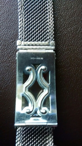 correa pulsera reloj oro blanco 14 k