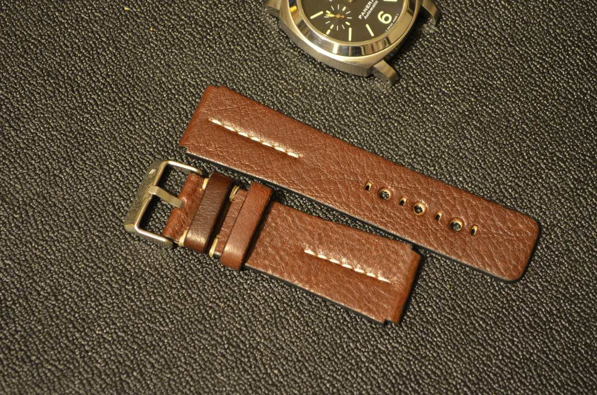 3f28b640f34c Correa Reloj Piel Bisonte Cafe 24mm