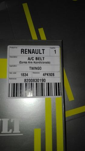 correa renault aire acondicionado twingo 4pk-928