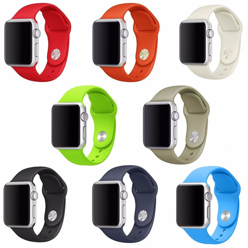 correa smartwatch apple 42mm manilla color blanco deportiva