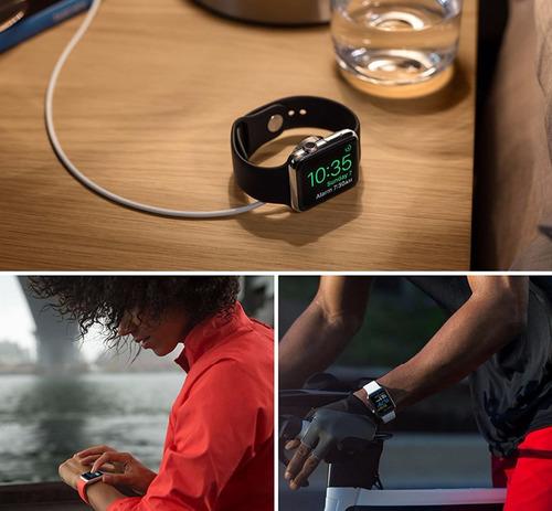 correa smartwatch apple 42mm manilla color rosada deportiva