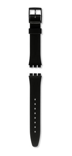 correa swatch silicona negro