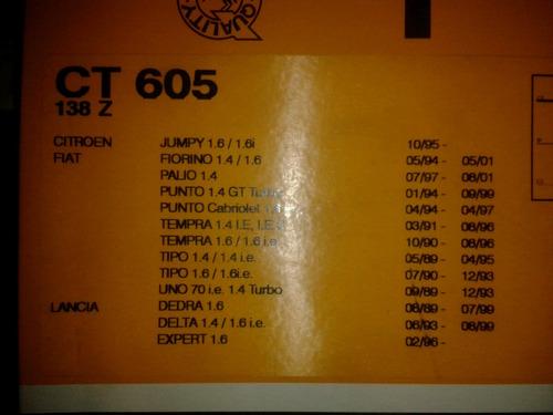 correa tiempo fiat palio,tempra,premio1.6 original 138diente