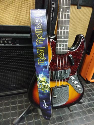 correa tijuana modelo eco iron maiden para guitarra o bajo