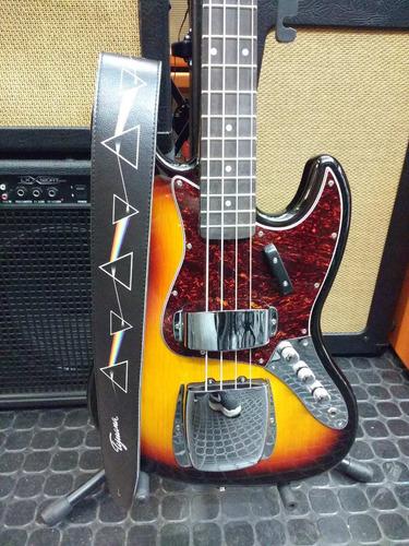 correa tijuana modelo eco pink floyd para guitarra o bajo