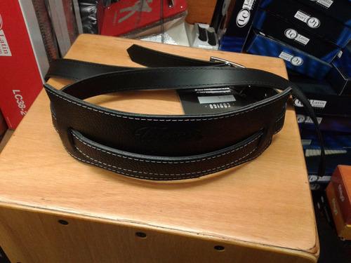 correa tijuana vintage cuero negro modelo 410/8