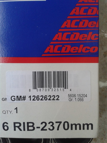 correa única de silverado thaoe c 500 original gm#12626222