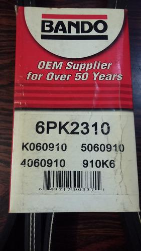 correa unica multicanal mazda 6 luv dmax 3.5 6pk2310 bando
