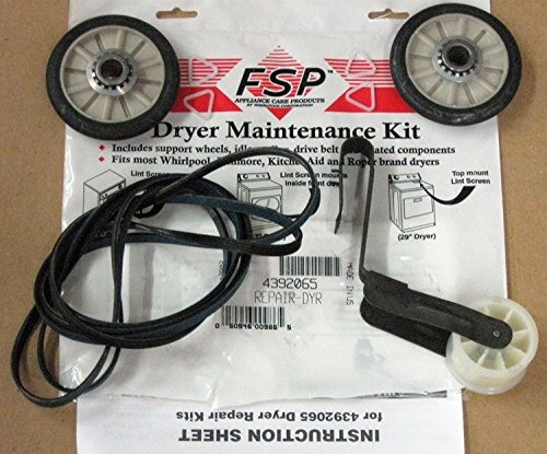 correa y rueda para secadora whirlpool kenmore- envío gratis