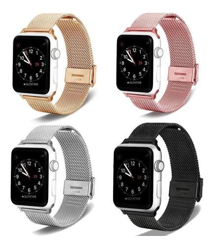 correas apple watch silicona cuero metal nylon 38 40 42 44