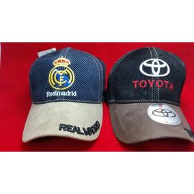 6adbd44bacfd2 Gorra Curva Bordada Tipo Jeans Real Madrid O Toyota Sgi