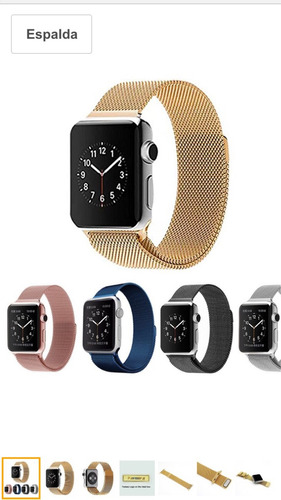 correas de acero inoxidable para apple watch