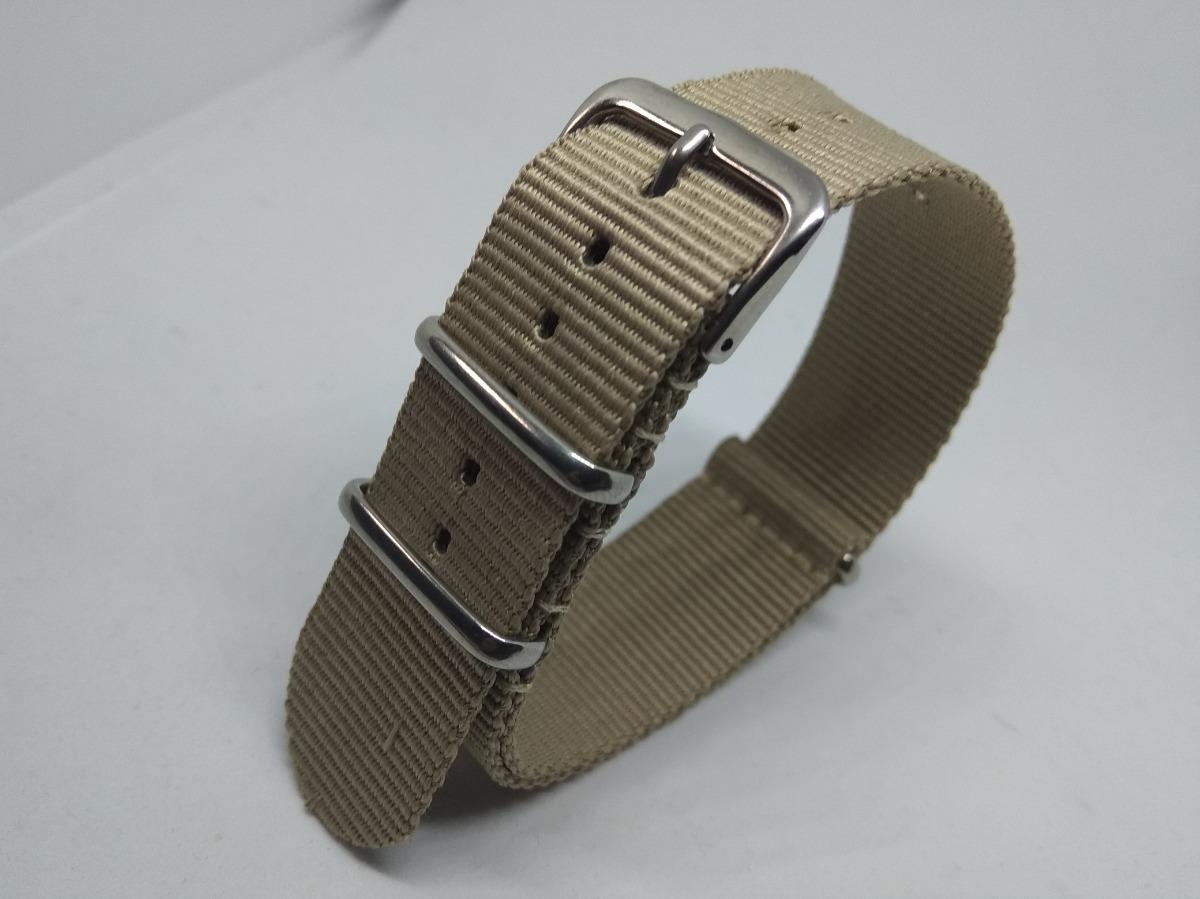 bc5e2d4002 Correas De Reloj De Nylon Nato Straps 18mm Beige - $ 8.990 en ...