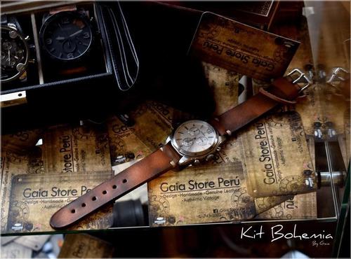 correas en cuero genuino compatibles con todo tipo reloj
