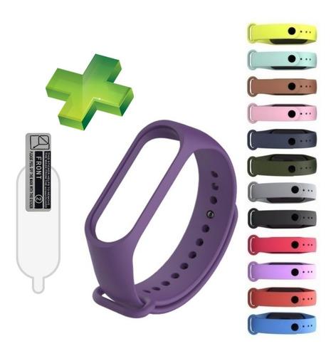 correas manillas pulsera silicone mi band 4 / 3 + protector