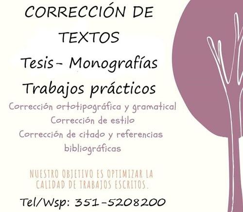 corrección de tesis.