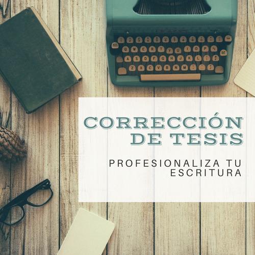 corrección de tesis, tesinas, papers y otros