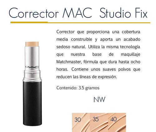 corrector cremoso en barra mac studio fix. tienda chacao