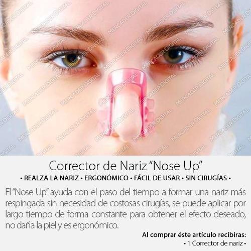 corrector de nariz nose up / clip estiliza y respinga nariz