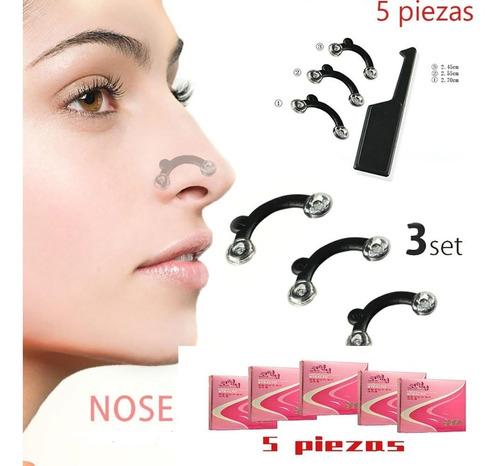 corrector de nariz respingador invisible 3 pares 1 ch, 1 m y 1 l unisex - nose up 5 pzs!5 pzs!
