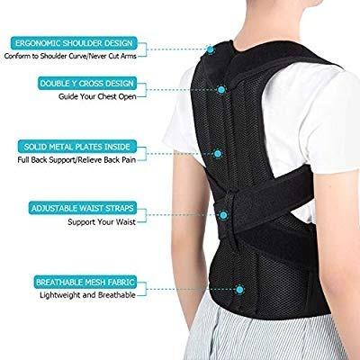 corrector de postura de soporte de barras alivia el dolor